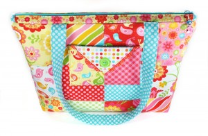 Spring Zipper Tote Bag